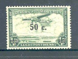 Belgian Congo 1936 Landscape With Aeroplane 0.50 F MNH ** - Congo Belge