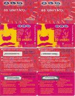 46/ Romania; ALO GSM, 4 Old Prepaid GSM Cards - Roumanie