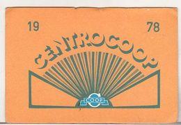 Romania Old 1978 Small Calendar - Centrocoop - Calendars