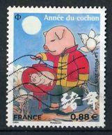 """TIMBRE De 2019 Oblitéré """"0,88 (grand Format) - Année Lunaire Chinoise Du COCHON"""" - France"""