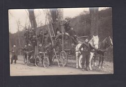 Carte Photo Guerre 14-18 8è Regiment Genie Telegraphistes Transmissions Attelage  Route De Bordeaux Arch. Lefevre Golbey - War 1914-18