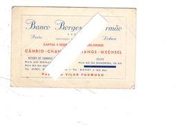 Carte De Visite De Banco Borges à Porto , Lisboa , Format 6.5 X10.5 - Porto