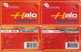 60/ Slovenia; SI.mobil, 2 Old Prepaid GSM Cards - Slovénie