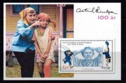 Mi. Bl.26 Astrid Lindgren - Blokken & Velletjes