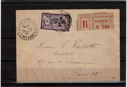 CTN63/FR - MERSON 60c REC. PARIS 23/3/23 - 1900-27 Merson