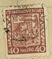 CZECHOSLOVAKIA-COAT OF ARMS-USED STAMP - Czechoslovakia
