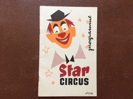 PROGRAMME CIRQUE CIRCUS  Zavatta  ANNEE 1957 - Programmi
