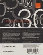67/ Switzerland; Orange, Old Prepaid GSM Card - Suisse