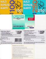 71/ Turkey; TurkCell, 3 Old Prepaid GSM Cards - Turquie