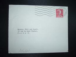 LETTRE TP M. DE MULLER 15F OBL.MEC.8-7 1955 ETRETAT SEINE-MARITIME (76) - Marcophilie (Lettres)