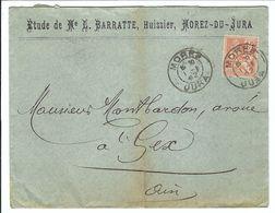 FRANCE 1902:  LSC De Morez-du-Jura Pour Gex Avec Le Y&T 117, Et CAD - Francia