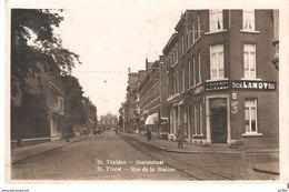 692) Sint-Truiden - Fotokaart - Statiestraat Met Café J. Clerinckx - Sint-Truiden