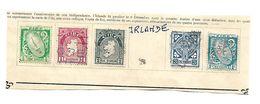 Irlande 1922. Lot De 5 Timbres Oblitérés Sur Fragment. - 1922 Governo Provvisorio