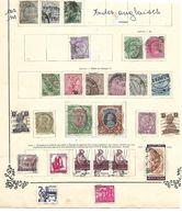 Indes Anglaises. 1902-1914. Lot De 26 Timbres Oblitérés Sur Feuille.. - 1902-11 Koning Edward VII