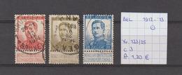 Albert I - Yv./OCB 123/25 Gest./obl./used - 1912 Pellens