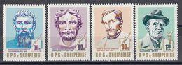 Albania 1989 - Personnalites Du Monde Du Arts, Mi-Nr. 2409/12, MNH** - Albanien