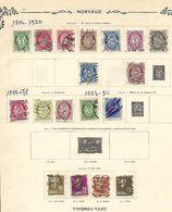 Norvège. 1877-1924. Lot De 18 Oblitérés Sur Feuille. . - Norwegen
