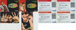 83/ Malaysia; Maxis, 4 Old Prepaid GSM Cards - Malaysia