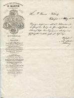 Alter Brief Von 1874 - Maschinen-Fabrik Und Eisengiesserei M.Martin, BITTERFELD - Documenti Storici