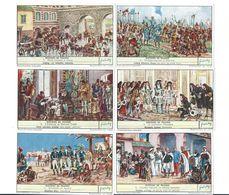 Chromos Histoire De France X 6  Bonaparte Autun Lyautey  Série Complète Didactique Pub:Liebig 110 X 70 Mm  TB - Liebig