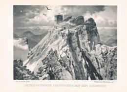 623-2 Burkhard Ernst Platz Zugspitze Observatorium Artikel Mit Kunstblatt 1900 !! - Magazines & Newspapers