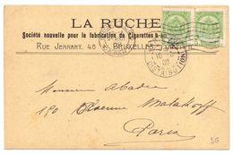 Belgique Carte Postale Pub Papier A Cigarettes La Ruche Abeilles - Api