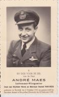 Doodsprentje (7322) Kortrijk - Bruxelles (Doornik) - MAES / VAN HEES 1923 - 1952 Luitenant Vliegenier , Oorlog - Devotion Images