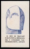 ITALIA - Erinnofilo - MUSSOLINI - DUX Di Thayaht - Oltremare (FUTURISMO) - Erinnofilia