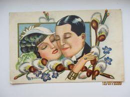 SUPERB ESTONIA ART DECO SIGNED SÖÖT , LOVERS EASTER   , O - Andere Illustrators