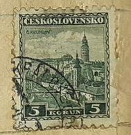 CZECHOSLOVAKIA-CASTLE-USED STAMP - Czechoslovakia