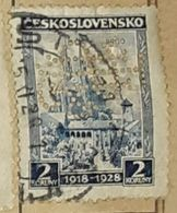 CZECHOSLOVAKIA-CASTLE,PERFIN.-USED STAMP - Czechoslovakia