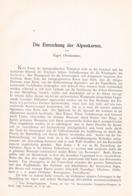 629 Oberhummer Entstehung Der Alpenkarten Artikel Von 1901 !! - Other