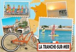 CARTES GÉOGRAPHIQUES -  CARTE DE LA FRANCE - ( 85 ) LA TRANCHE-SUR-MER - 4 PETITES VUES - CPM - VIERGE - - Cartes Géographiques