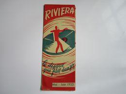 Disques RIVIERA - Le Disque Qui Fait Danser - Mai-Juin 1953 (dépliant 8 Volets) - Musica & Strumenti