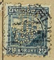 CZECHOSLOVAKIA-CASTLE,PERF.-USED STAMP - Czechoslovakia