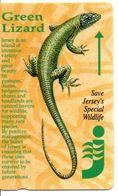 Animal Green Lizard Lézard Télécarte Jersey Phonecard Telefonkarte (G 255) - Schede Telefoniche