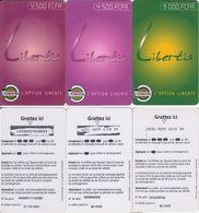 98/ Togo; Togocel, 3 Old Prepaid GSM Cards - Togo