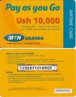 100/ Uganda; MTN, Old Prepaid GSM Card - Ouganda