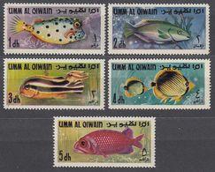 UMM AL QIWAIN 1967 -  MiNr. 171-175  ** / MNH - Fishes