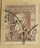 CZECHOSLOVAKIA-MASARYK,PERF.-USED STAMP - Czechoslovakia
