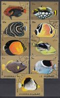 FUJEIRA 1972 -  MiNr. 9 Werte Used - Fishes