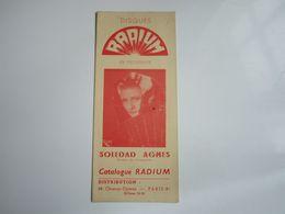 SOLEDAD AGNES - Disques RADIUM - Catalogue (dépliant 3 Volets) - Musica & Strumenti