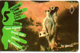 Animal Suricates Télécarte Turc Türk Phonecard Telefonkarte (G 256) - Schede Telefoniche