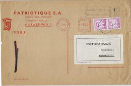 1067 R   -   ROLZEGEL N° 3   -   Boudewijn 3 Fr In PAAR  Op  Brief   -   1967   HUY  -  Achteraan Stempel  NAMUR - Rouleaux