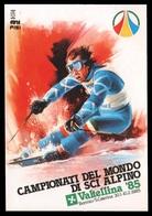 CAMPIONATI DEL MONDO DI SCI ALPINO Valtellina '85 - Bormio / Santa Caterina (con Annullo Postale: 10/2/1985) - Winter Sports