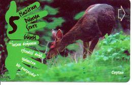 Animal De Ceylan Télécarte Turc Türk Phonecard Telefonkarte (G 257) - Giungla