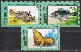 NORDKOREA 1979 -  MiNr. 1937-1939 Komplett   Used - Fishes