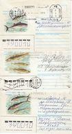 UDSSR 1987 -  MiNr. 3 Belege - Fishes