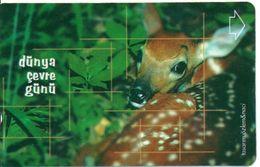 Animal Biche Faon Télécarte Turc Türk Phonecard Telefonkarte (G 258) - Giungla