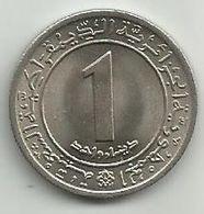Algeria 1 Dinar 1972. KM#104.1 FAO High Grade - Algeria
